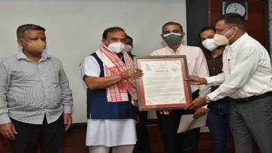 Assam: AMA donates Rs 50 Thousand to CM Relief Fund