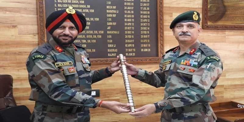 Maj Gen Sanjiv Singh Slaria takes over as GOC Counter Insurgency Force Kilo