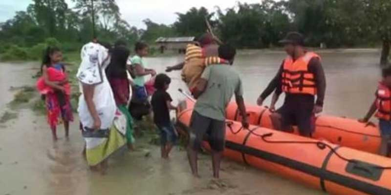Assam flood situation deteriorates, over 2.25 lakh people affected