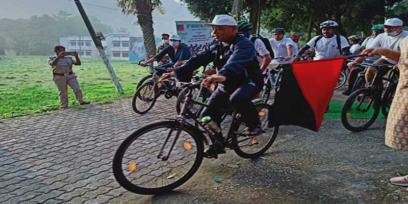 67th Wildlife Week: Assam Minister participates in cycle rally to raise awareness on Deepar Beel
