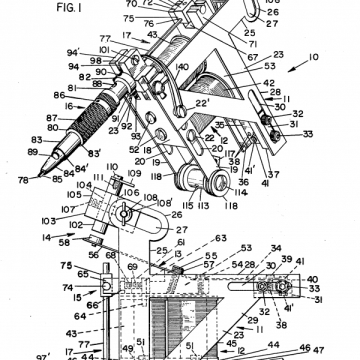 Carol Nightingale Tattoo Machine Patent 4159659