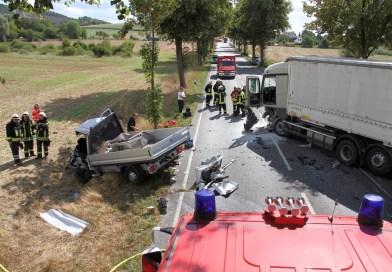 Fahrer stirbt nach Frontalcrash auf der Bundesstraße 3 bei Vogelbeck