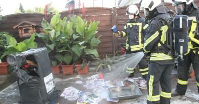 Brand in Langenholtensen: Ersthelfer verhindern Schlimmeres, Feuerwehr war zufällig in der Nähe