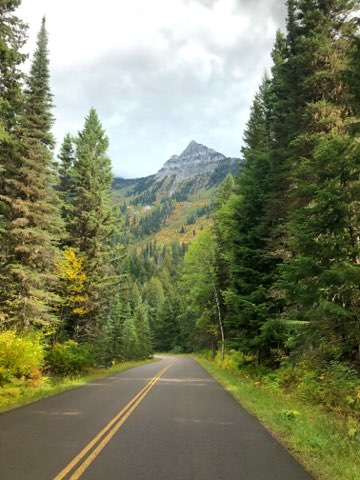 Going to the sun road fall Glacier National Park