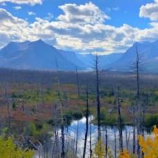east glacier national park fall foliage