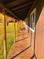 Trapper Peak Outfitters Bunkhouse Walkway