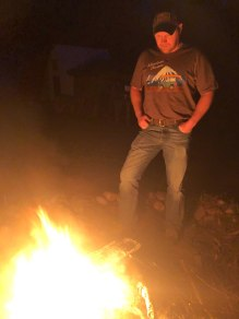 Adventure Chaser by the fire