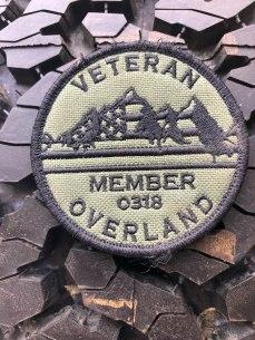 Veteran Overland Membership on tire