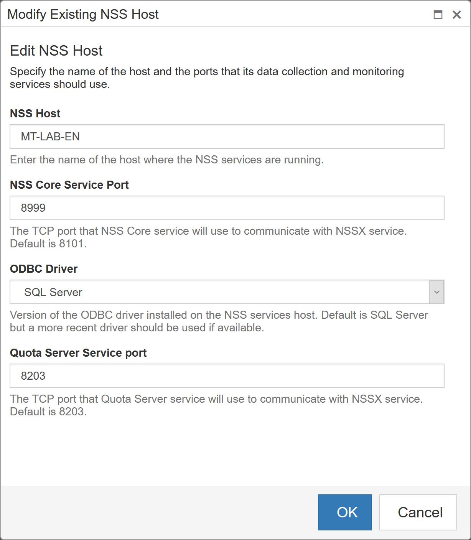 Edit a Scanning Host - Change Settings