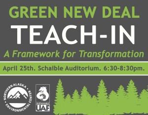 Green New Deal Teach-in @ UAF Schaible Auditorium