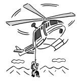 山岳救助要請ヘリコプター
