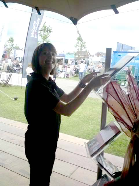 Steph staffing the Northern Ballet Theatre stand