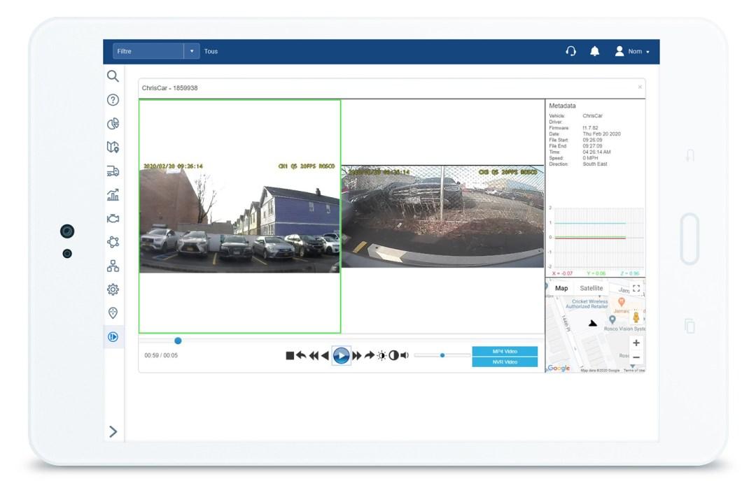 Intégration de la caméra de tableau de bord RoscoLive et du logiciel MyGeotab