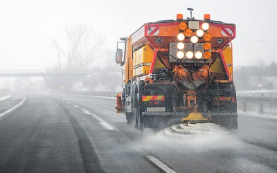 How much material is my salt truck spreading?