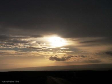 new year's eve sunrise over grinton moor