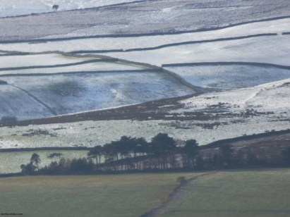 snow dusted fells above swaledale, yorkshire