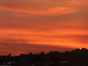 Nice, coucher du soleil
