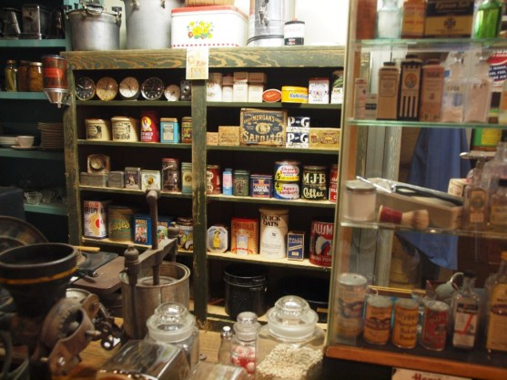 A peel behind the counter at Turner Bros. store inside the Drylander Museum.