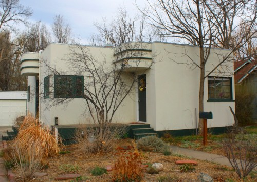 This 1946 Art Deco house (237 West Street) sits nestled among bungalows in the Capitol Hill Neighborhood.