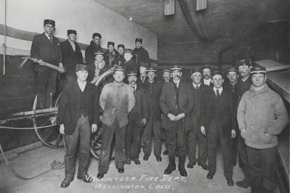 The Wellington Volunteer Fire Department in 1907.