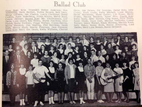 Ballad Club in 1965.