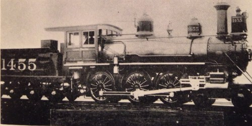 Union Pacific Engine #1455 (Photo from Hugo's Odyssey.)