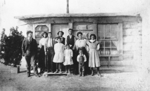 Alonzo and Esther Stepp and their eight children were the first Blacks to homestead in the Fontenelle District in Wyoming. (Photo from the American Heritage Center at the University of Wyoming.)