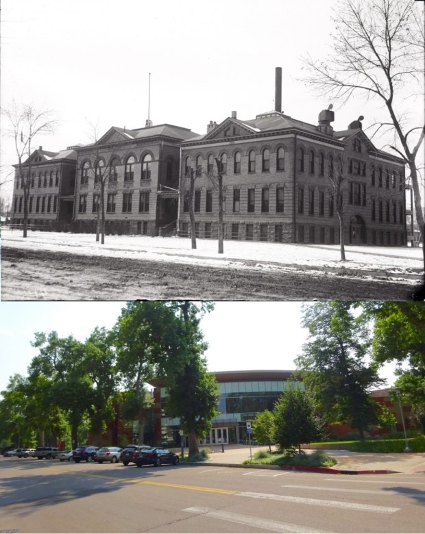 This building originally held the Fort Collins High School. When the high schoolers moved to the building on Remington, the junior high was able to take over the building. Fort Collins Junior High was renamed Lincoln Junior High in 1939. The building that stands there today is called the Lincoln Center.