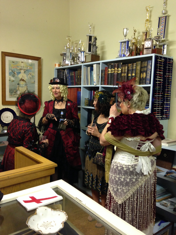 During the Time Travelers Ball held by the Poudre Landmarks Foundation in 2014, several Victorian ladies found their way into the museum room in the Masonic Temple.
