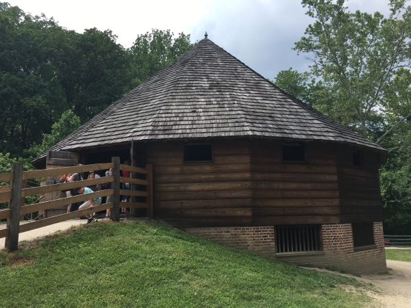 This is a reproduction of a barn that George Washington designed.