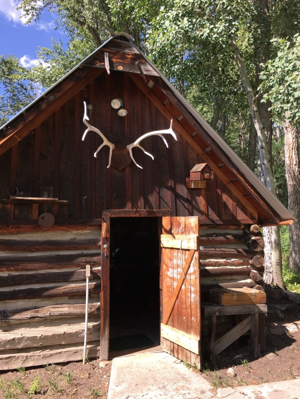 The ice house may originally have been moved from the mining community of Manhattan.