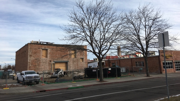 The Dunham-Akin warehouse as it looked on December 30, 2016.