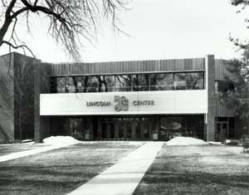 The Lincoln Center main entrance in 1992. (From the Fort Collins Archive - #H11859.)