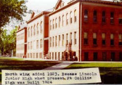 """The note under this photo isn't quite accurate as the annex was built in 1922 and the junior high wasn't called """"Lincoln"""" at the time that it expanded to take over the entire building."""