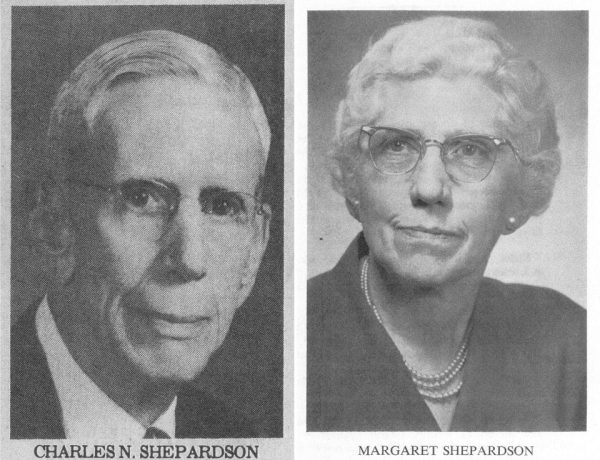 Exhibits 1 and 2 (brother and sister). Photo at left is from the August 22, 1975 Coloradoan and photo at right is from Miss Shepardson's funeral program.