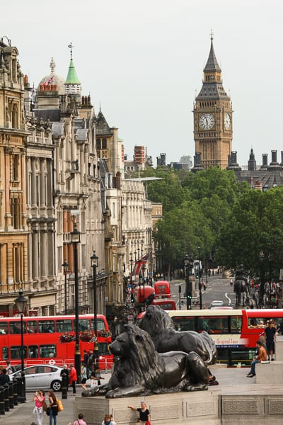 Big Ben from Trafalgar Square, London