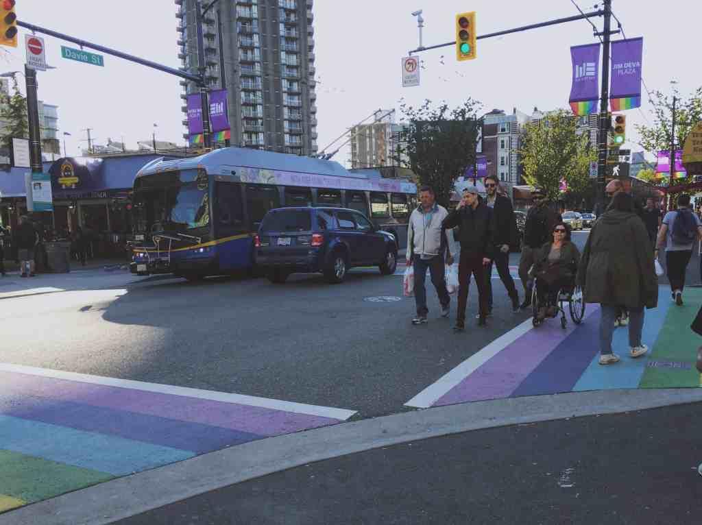 Rainbow Crosswalk along Davie and Bute