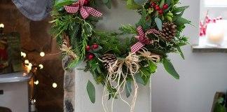 making a wreath