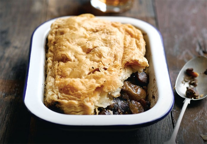 chestnut mushroom and shallot pie