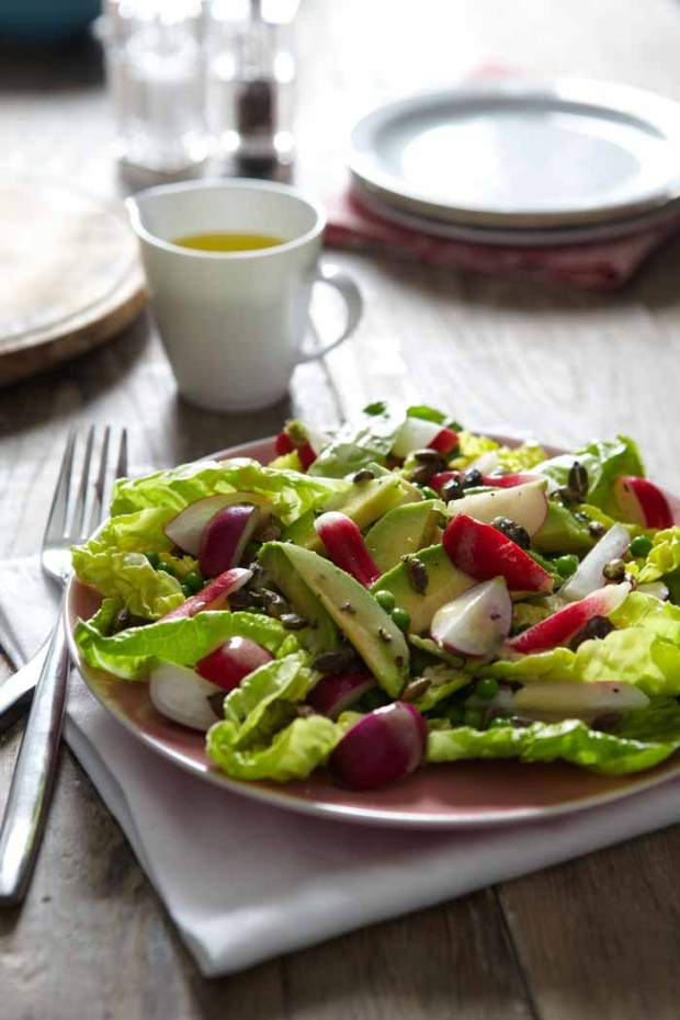 Lowri Turner's Radish avocado and pumpkin seed salad