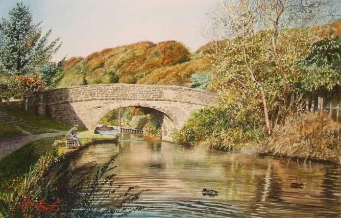 Rochdale canal at Mytholmroyd