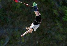 Kay Green bungee jumping