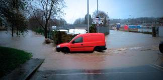 Flood in Padiham centre