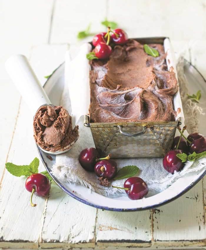 Quick avo and chocolate ice cream
