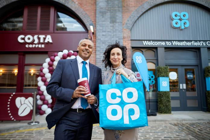 Co-op Costa Managing Director for the UK and Ireland, Jason Cotta; CEO Retail Co-op Jo Whitfield