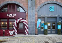 Costa Coffee and Co-op store fronts