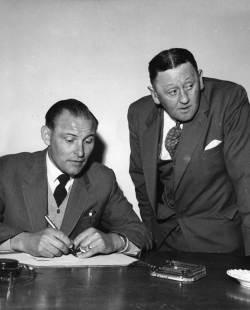 Bob Lord signs Harry Potts