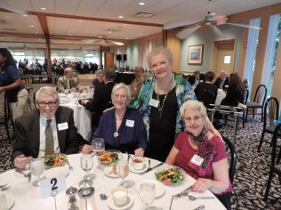 NOOL's (Northern Ohio Opera League), Dinner and Dancing at the Lakeside Yacht Club. Jim & Dorothy Lowder, Phyllis Donnelly Ingold and Carole Roske.