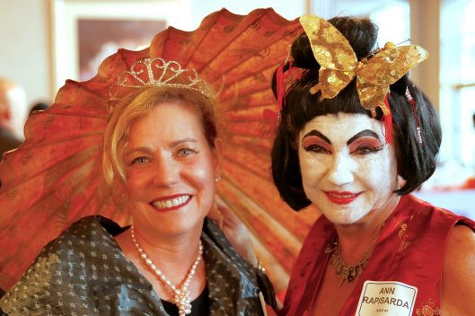 Northern Ohio Opera League Masquerade at Landerhaven, Shelly Stein Epstein & Ann Rapisarda.