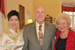 Soprano Andrea Anelli of Opera Per Tutti, Greg & Marcia Polyak. Northern Ohio Opera League's Post Valentine Brunch at the Shaker Country Club 2.16.14